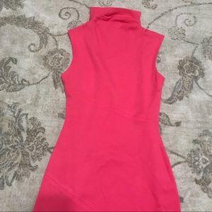 Diane Von Furstenberg Dresses - Diane Von Furstenberg Pink Faux Turtleneck Dress